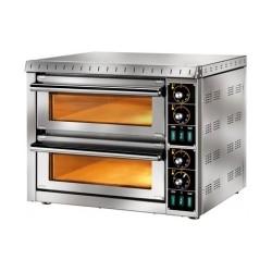 Forno pizza elettrico 2 camere 41 x 36 cm con vetro