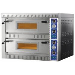 Forno pizza elettrico 2 camera 70 x 70 cm con vetro