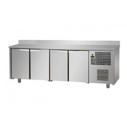 Tavolo Refrigerato 4 porte con alzatina