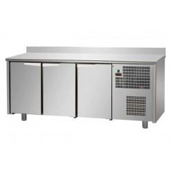 Tavolo Refrigerato GN 1/1  3 porte con alzatina prof. 70 cm