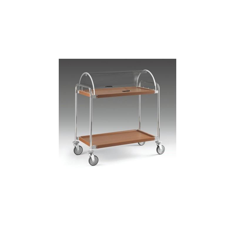 Carrello cromato a 2 piani con cupola dom macchine for Piani di cupola pdf