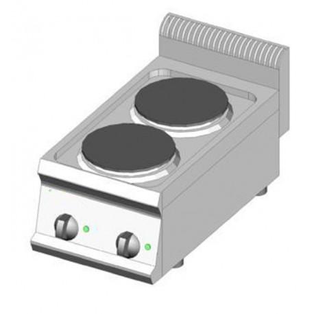 Piano Cottura elettrico 2 piastre 35x70 - DOM Macchine Alimentari
