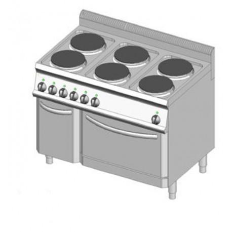 Piano cottura elettrico 6 piastre 105x70 con forno dom - Cucina con piastre e forno elettrico ...