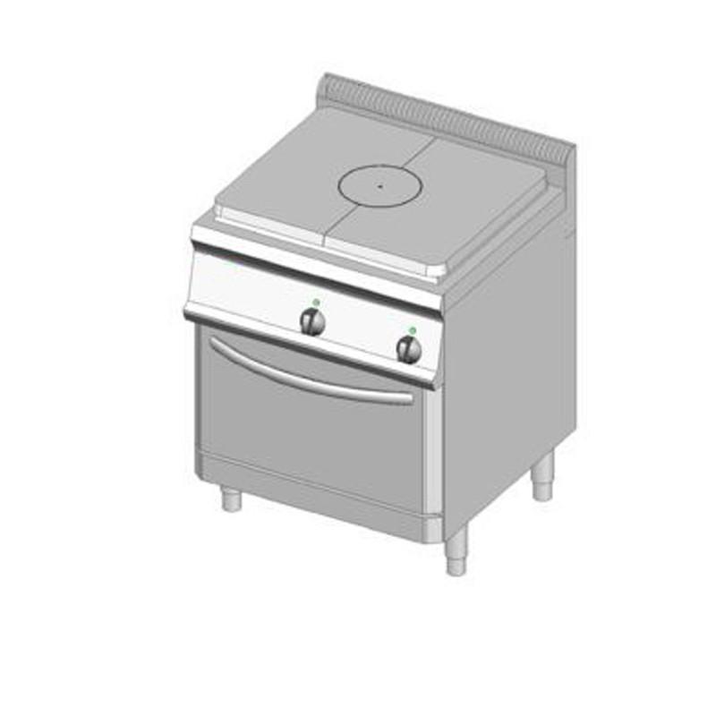 Piano cottura tutta piastra gas 70x70 con forno gas dom macchine alimentari - Cottura forno a gas ...
