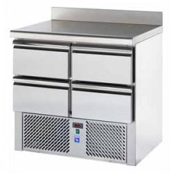 Saladatte refrigerata 4 cassettoni + piano in granito