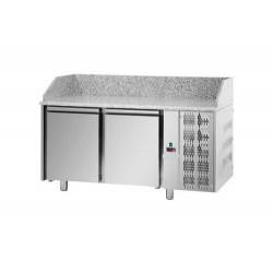 Tavolo pizza 60x40 refrigerato  2 porte e piano in granito