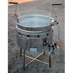 Friggitrice a cestello tondo 15 litri