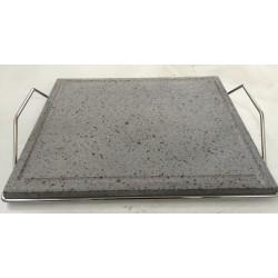 Piastra pietra lavica 35x40 cm con supporto